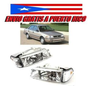 88 92 Toyota Corolla Clear Chrome Headlight Ae92 93 94 E90 Ee90 1988 1992