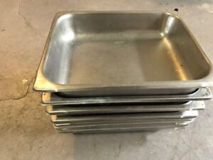 Lot Of 13 Half Size Stainless Steel 2 1 2 Deep Steam Prep Table Pan Restaurant