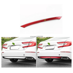 1pcs Abs Red Chrome Car Rear Bumper Molding Cover Trim Fit For Honda Accord 2018