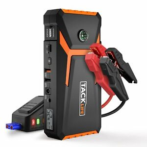 Tacklife T8 Car Jump Starter 800a Peak 18000mah 12v Auto Battery Booster