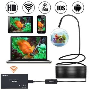 Wireless Endoscope Wifi Borescope Inspection Camera 2 0 Megapixels Hd Snake Came