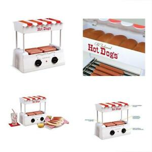 Vintage Hot Dog Roller Bun Warmer Electric Grill Machine Adjustable Heat Counter