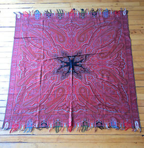 Antique Kashmir Paisley Shawl 75 X 75