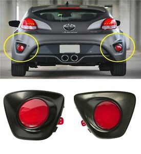 Rear Bumper Reflector With Cover 2013 2017 Veloster Turbo Right