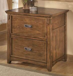 Lateral File Cabinet In Medium Brown Finish id 3467116