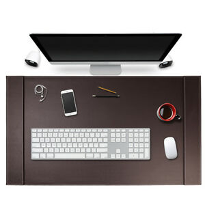 Sum Top grain Vegan Leather Office Desk Pad Mouse Keyboard Laptop Mat 34 X 20
