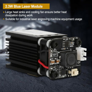445nm 2 3w Blue Laser Module With Heatsink For Laser Cutter Engraver Diy