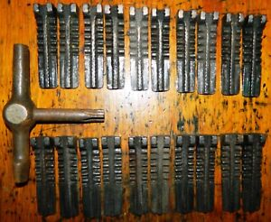 Letterpress Printing Printer Block Metal Type Challenge 10 Sets Quoins 20 Key