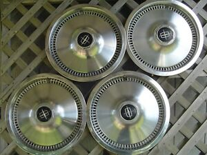 1975 81 Lincoln Mark Continental Town Car Hubcaps Wheel Covers Fomoco Vintage