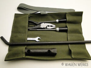 Vw Karmann Ghia tool Roll Kit Bug Type 2 Ghia Green