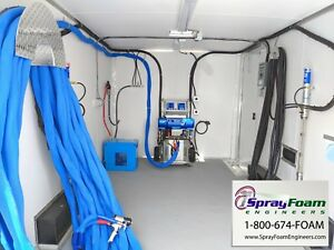 Contractor Spray Foam Insulation Rig graco E20 Spray Foam Trailer