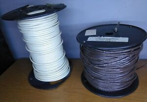 12 Strand Copper Wire Part Of A 500 Ft Foot Spool Brown White Two Spools Lot