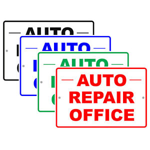 Auto Repair Office Car Workshop Mechanic Retail Notice Aluminum Metal Sign