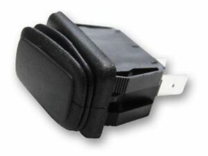 Rectangle Rocker Switch Black 3p Spdt On off on 25a 14vdc 2pack