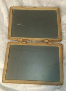Primitive Antique 1800 S Child School Desks Double Chalkboard Slate With Pencil
