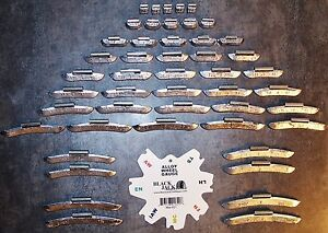 48 PC ASSORTMENT P Style  LEAD  WHEEL WEIGHTS  .25 THRU 3.00 oz.