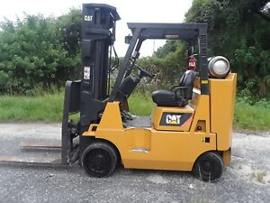 2007 Cat Caterpillar Gc40 8000lb Forklift Lpg Lift Truck