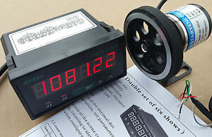 8 Inch Length Wheel Encoder Support counter Grating 0 01 Yard Display Meter