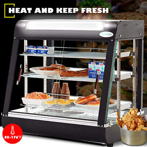Commercial 26x26x20 Countertop 3 tier Food Pizza Warmer Display Cabinet Case