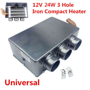 Universal 12v 24w 3 Hole Car Suv Truck Heating Cooling Heater Defroster Demister