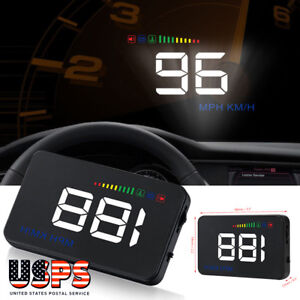 Uinversal Car Gps Hud Head Up Display 3 5 Lcd Obd2 Overspeed Warning System