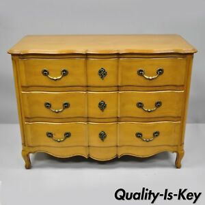 Cassard Country French Provincial Louis Xv Style Commode Fruitwood Chest Drawers