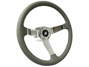 1969 1989 Buick Gray Steering Wheel Kit Chrome Center