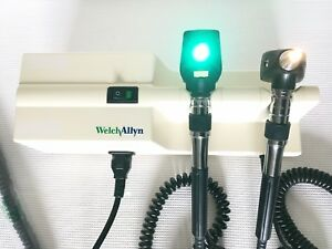 Welch Allyn 767 Diagnostic Set W Otoscope 25020a Ophthalmoscope 11620 Tested