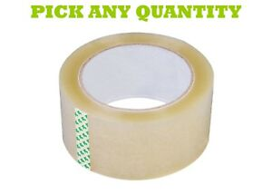 6 72 Rolls Clear Packing Packaging Carton Sealing Tape 2 110 Yards 330ft Feet