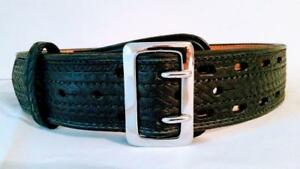 Sam Browne Police Duty Leather Belts 2 1 4 32 38 Free Shipping