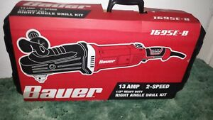 Bauer Right Angle Drill Kit 13 Amp 2 Speed 1 2 Heavy Duty 1695 b New In Box