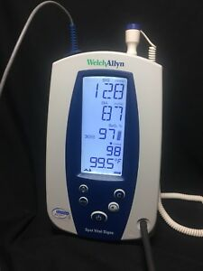 Welch Allyn 420 Series Spot Vital Signs Monitor 42ntb Nibp Spo2 Temp Tested