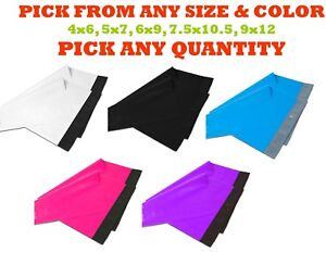 Poly Mailers Shipping Envelopes Plastic Mailing Bags Self Sealing White Small