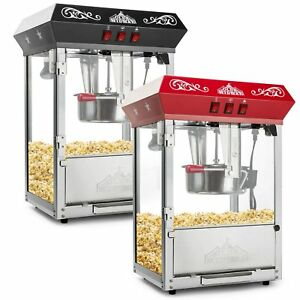 Olde Midway Bar Style Popcorn Machine Maker Popper With 8 ounce Kettle Red