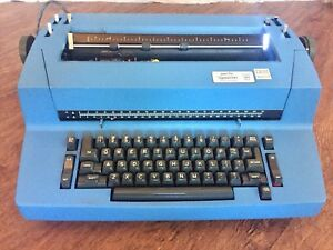 Vintage Ibm Selectric Ii Electric Business Typewriter Dust Cover Blue 1971