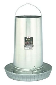 Poultry Chicken 40 Pound Tube Hanging Feeder Space Saver Galvanized Steel