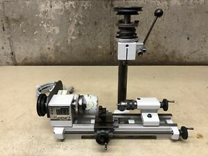 Emco Unimat 3 Mini Lathe With 3 Jaw Chuck Milling And Fine Feed Attachment