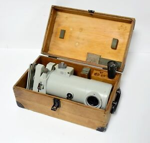 Carl Zeiss Ni 007 Level Micrometer Metric Surveyor With Wooden Box
