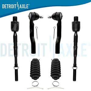 6pc Front Inner Outer Tie Rod Boot Kit For 2007 2014 Ford Edge Lincoln Mkx
