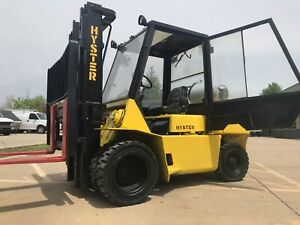 1998 Hyster 9000 Pound Lpg Dual Tire Pneumatic Forklift cab triplesideshift l k