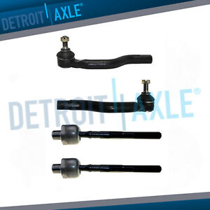 Front Inner Outer Tie Rod Ends For 2006 2007 2008 2009 2010 2011 Honda Civic