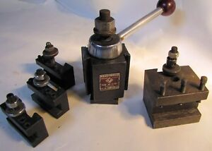 Armstrong Quick Change Piston Type Tool Post For Clausing Colchester Lathe Used