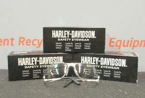Harley Davidson Hd501 Silver Frame Clear Safety Glasses Night Riding Lot Of 3