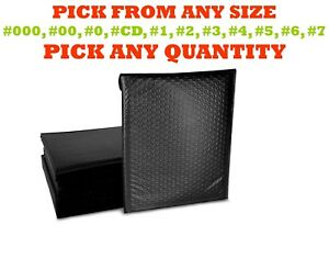 Black Poly Bubble Mailers Shipping Mailing Padded Bags Envelopes Self seal