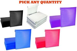 00 5x10 Poly Bubble Mailers Shipping Mailing Padded Bag Envelopes Color 5 X 9