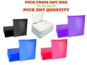 Poly Bubble Mailers Shipping Mailing Padded Bags Envelopes White Medium Size