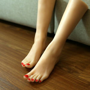 Lifelike Silicone Crus Mannequin Female Foot Model Display Size 38