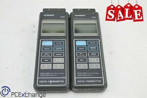 Lot 2x Omega Hh 82 Handheld Digital Thermometer 2 Channel J K Thermocouple Type