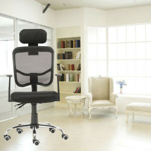 Executive Swivel Office Chair Swivel Computer Chair Mesh High Back With Headrest