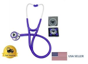 Wyltec Cardiology Stethoscope Dual Head Stainless Steel Soft Eartip Latex Free